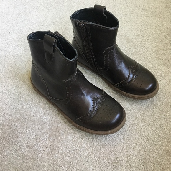 Marks And Spencers Leather Girls Boots